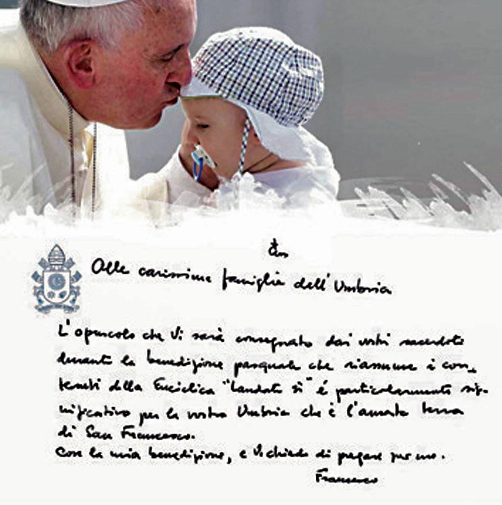 """Famoso Questa è la mia casa"""": l'opuscolo con la firma di Papa Francesco  XS22"""