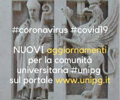 Università Perugia disposizioni Coronavirus