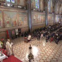 La celebrazione nella Basilica di San Francesco per la festa del 4 ottobre