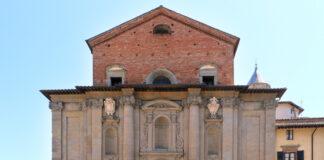 Facciata del duomo di Città di Castello dedicato ai santi patroni Florido ed Amanzio