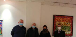 Il vescovo Cancian in visita alla direzione dell'ospedale di Città di Castello
