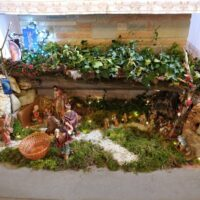 Il presepe hi tech realizzato nella parrocchia di Nuvole