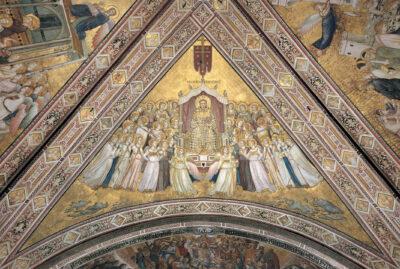 La vela con San Francesco in gloria di Giotto nella bailica Inferiore di Assisi