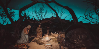 La rappresentazione della Natività nel presepe monumentale di Città della Pieve
