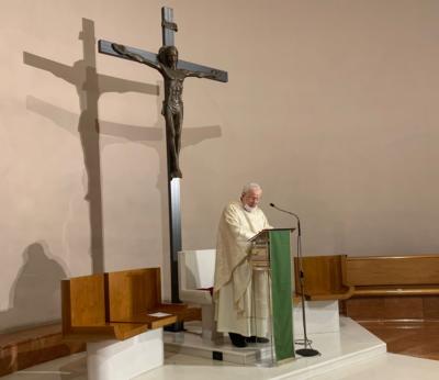 Il card. Bassetti celebra nella chiesa dei ss. Biagio e Savino
