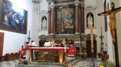 Mons. Piemontese celebra la festa di san Valentino a Terni