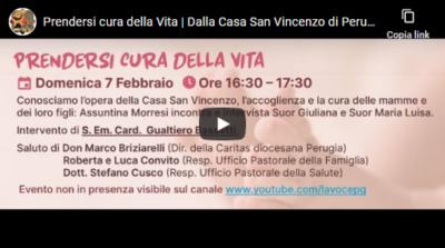 In diretta dalla Casa San Vincenzo di Perugia per la Giornata della vita