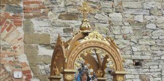 La statua della madonna che verrà restaurata