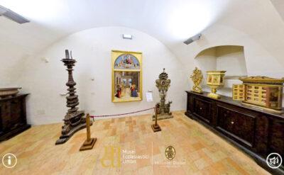 Una sala espositiva del Museo del Duomo di Città di Castello
