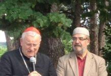 Il cardinale Gualtiero Bassetti assieme all'imam Abdel Qader
