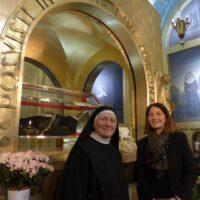 La priora del monastero di Santa Rita a cascia con Alessandra Paoloni