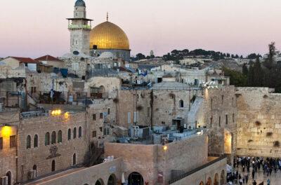 Una veduta dall'alto della città di Gerusalemme