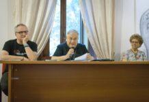 Da sinistra Arlado casali, nuovo direttore dell'Istess, il vescovo padre Giuseppe Piemontese, Stefania Parisi
