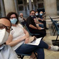 l'equipe di caritas perugia al 50° di caritas italiana