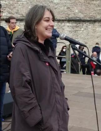 Cecilia Strada alla Marcia per la pace Perugia Assisi 2021