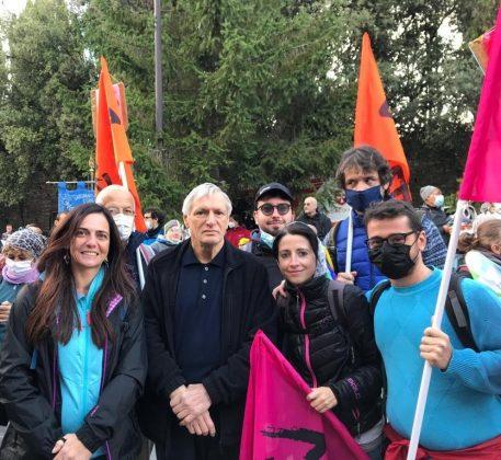 Don Luigi Ciotti alla Marcia per la pace Perugia Assisi 2021
